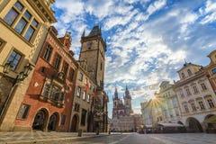 Prague sunrise Stock Photography