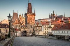 Prague at sunrise Royalty Free Stock Photos