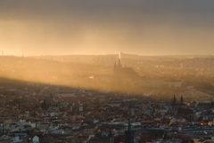 Prague in sunset Royalty Free Stock Photos