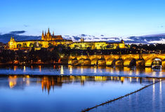 Prague at sunset. Stock Photos