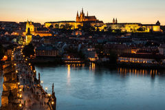 Prague at sunset Royalty Free Stock Photography