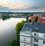 Prague the sunset Royalty Free Stock Image