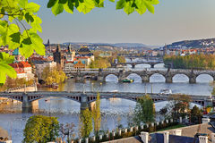 Prague at sunset Royalty Free Stock Photos