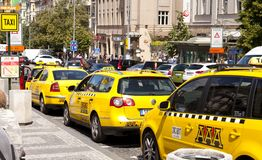 Prague Taxi Stock Photography
