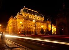 Prague teater Arkivbilder