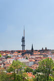 Prague Television Tower from Vitkov Hill Royalty Free Stock Image