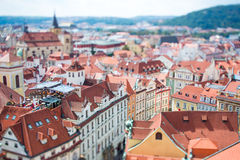 Prague - Tilt shift lens. Royalty Free Stock Images