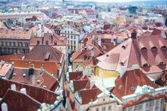 Prague - Tilt shift lens. Stock Images