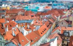 Prague - Tilt shift lens. Stock Photos