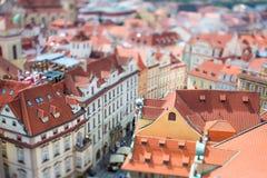 Prague - Tilt shift lens. Royalty Free Stock Photo