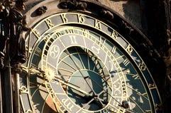 Prague timmar Fotografering för Bildbyråer