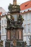 PRAGUE TJECK - MARS 12, 2016: Staty och gammal stadarkitektur av Prague Royaltyfria Bilder
