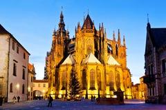 PRAGUE TJECK REPUBLIC-JAN 06, 2013: Prague julmarknad Fotografering för Bildbyråer