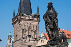 Prague Tjeckien. Arkivbild