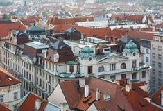 Prague (Tjeckien) aftonsikt Royaltyfri Fotografi