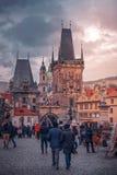 Prague TJECKIEN April 19, 2019 arkivbilder