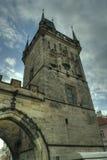 Prague Tjeckien - Charles Bridge/gammal stad Royaltyfri Bild