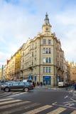 24 01 2018 Prague, Tjeckien - ett härligt gammalt hus i Arkivbild
