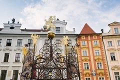 Prague Tjeckien, för Malé ná för mÄ för› för stà fyrkant lite arkivfoto