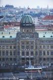 PRAGUE TJECKIEN, Februari 2018: Departementet av bransch- och handelbyggnad i Prague Planlagt av Josef Fanta Byggnadswi Arkivbild