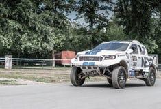 Prague Tjeckien - 16/5/2019 Ford Ranger DAKAR sakkunnig arkivbild