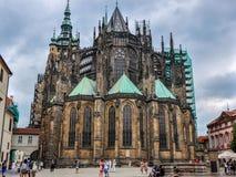 Prague Tjeckien - Juni 18, 2012: Domkyrka av helgonet Vite i Prague Royaltyfri Foto
