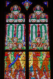 PRAGUE TJECKIEN - 12 kan, 2017: Den härliga inre av Sten Vitus Cathedral i Prague, Tjeckien Royaltyfri Fotografi