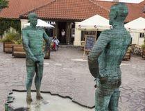 PRAGUE TJECKIEN - SEPTEMBER 02, 2015: Foto av den skulpturala sammansättningen Arkivfoto