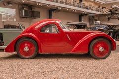 Prague Tjeckien tekniskt museum, retro bil 2017-09-12 fotografering för bildbyråer
