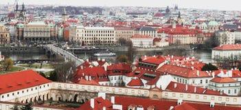 Prague Tjeckien, turist- begrepp som reser i Europa, f.m. Royaltyfri Bild