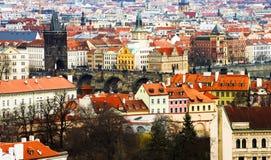 Prague Tjeckien, turist- begrepp som reser i Europa, f.m. Royaltyfri Fotografi
