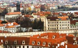 Prague Tjeckien, turist- begrepp som reser i Europa, f.m. Arkivbilder