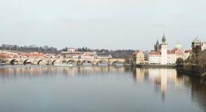Prague Tjeckien, turist- begrepp som reser i Europa, f.m. Royaltyfria Bilder