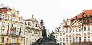 Prague Tjeckien, turist- begrepp som reser i Europa, f.m. Royaltyfri Foto
