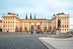 24 01 2018 Prague, Tjeckien - uppehåll av den tjeckiska presien Arkivbilder