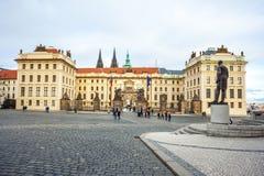 24 01 2018 Prague, Tjeckien - uppehåll av den tjeckiska presien Royaltyfri Fotografi