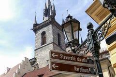 Prague tjeckisk republik Arkivfoto