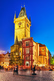 PRAGUE TJECKISK REPUBLIK SEPTEMBER 12, 2015: Astronomisk klocka (Sta Royaltyfri Fotografi