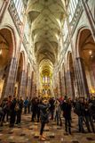 24 01 2018 Prague, tjeckiska Rebublic - en sikt inom det historiska set Royaltyfria Bilder