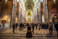 24 01 2018 Prague, tjeckiska Rebublic - en sikt inom det historiska set Royaltyfri Fotografi