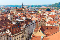 Prague. Top view of the city stock photo