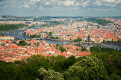 Prague top view Royalty Free Stock Photography