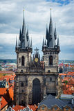 Prague top view Stock Photo