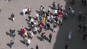 Prague Tourists Walking in Groups stock footage