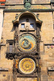 Prague tower clock. Prague, the old famous tower clock Royalty Free Stock Photo