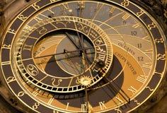 Prague - tower-clock - detail Royalty Free Stock Photo