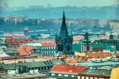 Prague tower view over city royalty free stock photos