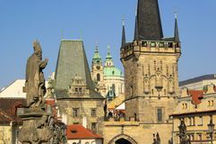 Prague towers royalty free stock photo