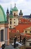 Prague towers Stock Photo