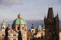 Prague towers Stock Photos